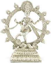 Bellaa 26966 Nataraja Dancing Statue White 6 Inch