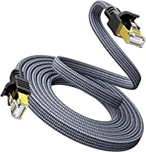 Cat 7 Ethernet Cable 10ft/3M - Snowkids 1000Mbps Network LAN Patch Cords Flat Cable RJ45, for Network Switches, Routers, P...