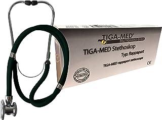 Rappaport - Estetoscopio profesional de doble tubo (1 unidad), color negro