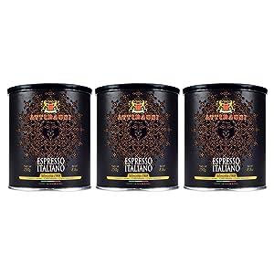 Attibassi Espresso Italiano Medium Roast Premium Ground Coffee Tin Can 8.8 oz. - Pack of 3