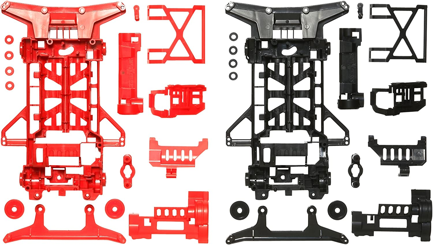 Tamiya Mini 4WD Especially Different Products SuperX Strong for Chassis Set (Red Black) 95242