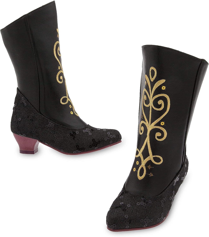 Disney Anna Costume Boots Kids Black