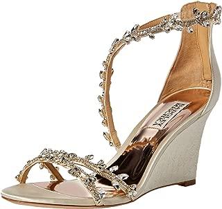 Badgley Mischka Women's Feather Wedge Sandal