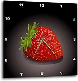 3dRose DPP_101609_1 One Perfect Strawberry-Wall Clock, 10 by 10-Inch