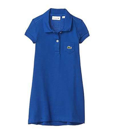Lacoste Kids Classic Pique Dress with Pocket (Toddler/Little Kids/Big Kids) (Ionian) Girl