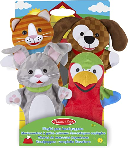 Melissa & Doug 4 Marionnettes à Main - Animaux domestiques