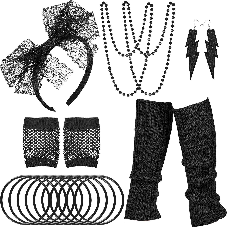 WILLBOND 80s Costume Accessories Ultra-Cheap Deals Max 51% OFF Set Leg Warmers Gloves Headband