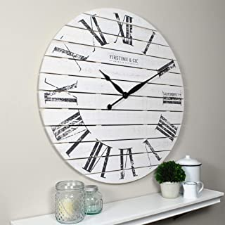 FirsTime & Co. Wall Clocks, Wood, White, 73.66 cm