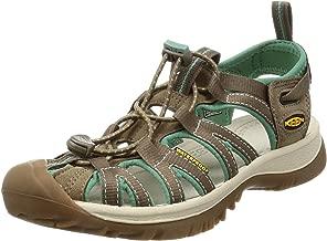KEEN Women's Whisper Sandal,Shiitake/Malachite,7.5 M US