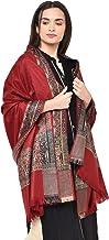 Weavers Villa Women's Kashmiri Acro Wool Self Design Border Shawl [SIZE:40X80 Inches]