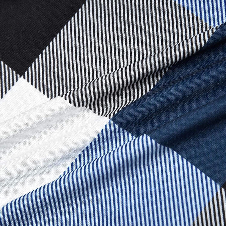 Womens Casual Long Sleeve Zipped V Neck Plaid Tunic Blouses Long Sleeve Plaid Tunic Shirt Zip up V Neck Work Casual Top