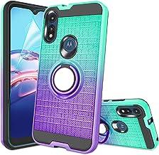 Moto E Case, Moto E 2020 Phone Case with HD Screen Protector,Atump 360 Degree Rotating Ring...