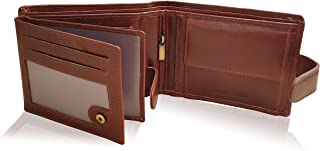 KORUMA - Cartera de piel con bloqueo RFID y bolsillo para monedas, coñac (Marrón) - SM-905OBR