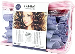 """Curlformers Glamourcurls Hair Curlers Barrel Curls Styling Kit, 24 No Heat Hair Curlers & 1 Styling Hook, for extra long hair up to 22"""" or 55 cms long"""