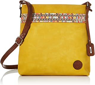Rieker Damen Handtasche H1029, Gelb (gelb/nuss-antik), 290x50x300 cm