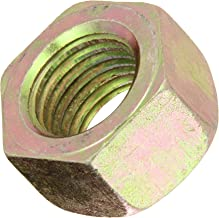 Steel Hex Nut, Zinc Yellow-Chromate Plated, Grade 8, ASME B18.2.2, 3/8