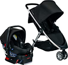 Best BRITAX B-Lively Travel System with B-Safe 35 Infant Car Seat | One Hand Fold XL Storage Ventilated Canopy, Raven (S05588500) Review