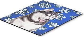 Caroline's Treasures KJ1175MP Winter Snowflakes Holiday Alaskan Malamute Mouse Pad, Hot Pad or Trivet, Large, Multicolor