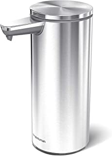 simplehuman 9 oz. Sensor Soap Pump, Brushed Stainless Steel, Rechargeable