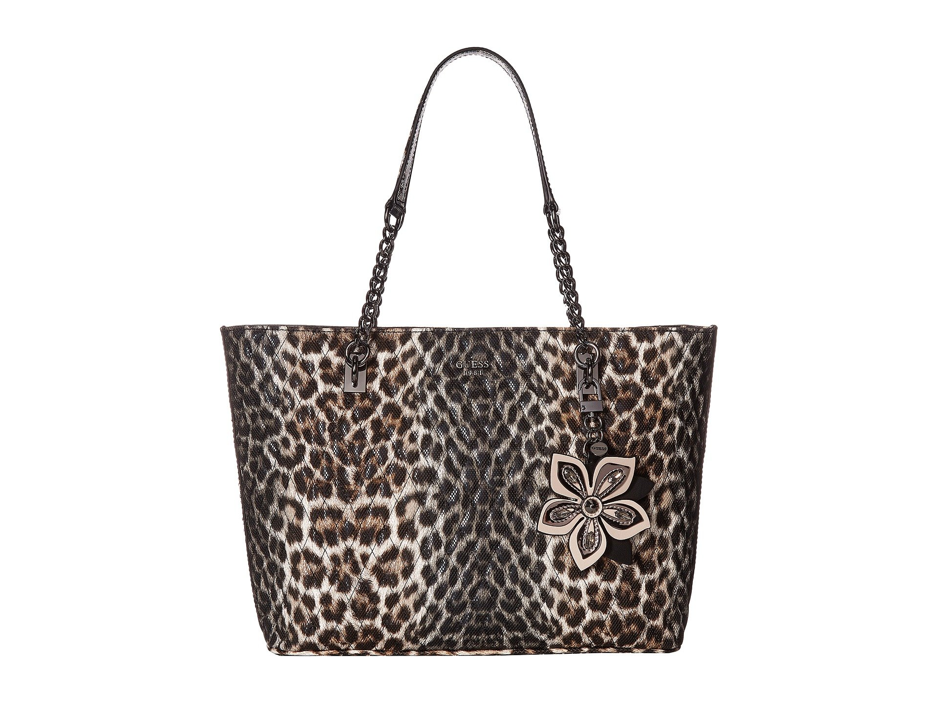 60363f5187a3 Guess Sibyl Tote In Leopard