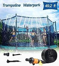 AOJI Trampoline Sprinkler for Outdoor Kids Trampoline Backyard Water Yard Sprinkler Sport Summer Water Toys for Boys Girls (49.2 Ft)