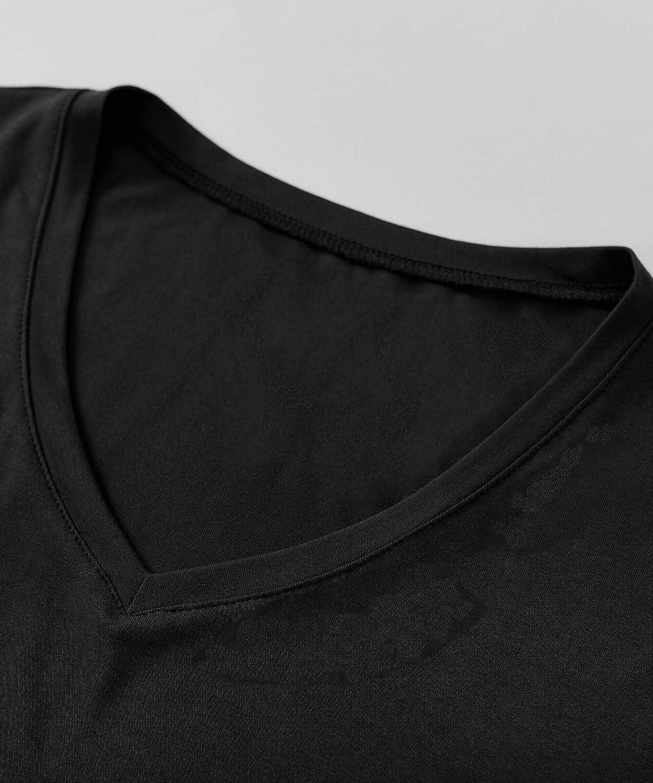Latuza Women's Bamboo Viscose Sleep T-Shirt V-Neck Pajamas Top