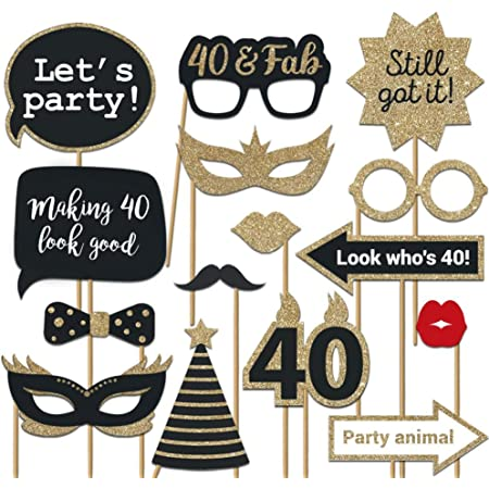 40 and Fabulous Gold Birthday Photo Prop 40th Birthday Photo Booth Frame Selfie Frame Black Gold Gold Picture Frame INSTANT DOWNLOAD