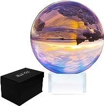 Sfera di Cristallo 80 mm - Sfera Fotografia con Supporto e Scatola - Sfera Cristallo Trasparente K9 per Meditazione e Guarigione - Sfera di Vetro per Decorazioni