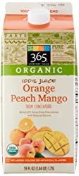 365 Everyday Value, Organic 100% Juice, Orange Peach Mango, 59 fl oz