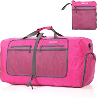Bekahizar 60L Duffle Bag for Women Men 25 inch Lightweight Foldable Travel Duffel Luggage Bags