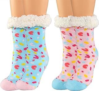 ARAD Fluffy Thermal Sherpa Slipper Socks-Candy Dream-Themed Socks-Pack of Slipper Socks-Fuzzy Slipper Socks-Unisex Novelty...