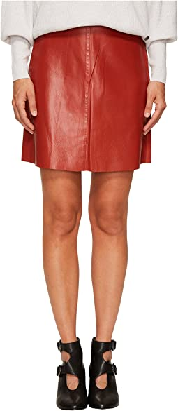 Thin Lamb Leather Skirt
