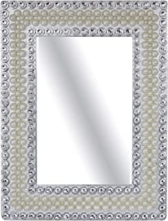 Majik Home Use Pearl Decorative Table Top Mirror For Bedroom, Living Room (M2)