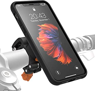 MORPHEUS LABS M4s iPhone X Bike Mount for iPhone Xs, Phone Holder & iPhone X Case, Bicycle Cell Phone Holder, Adjustable, fits Most Handlebars, 360 Rotation Stand, Bike Kit for iPhone X/Xs/10 [Black]