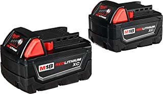Milwaukee 48-11-1822 Dual M18 Genuine OEM 3 Amp Hour 18V Lithium Ion XC Extended Capacity Battery with Redlink Intelligence and Extreme Weather Performance (2 Pack of 48-11-1828)