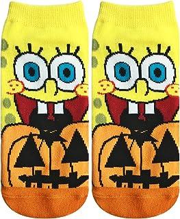 スポンジ?ボブ ソックス かぼちゃ ブラック?オレンジ 22cm~24cm SPBAP369J