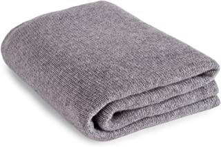Luxurious 100% Cashmere Travel Wrap Blanket - Light Gray - handmade in Scotland by Love Cashmere RRP $660