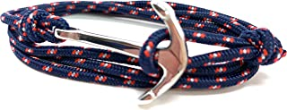 Anchor Bracelet [Men] Paracord Rope (Adjustable) & Stainless Steel Mens Bracelets with Anchor Clasp