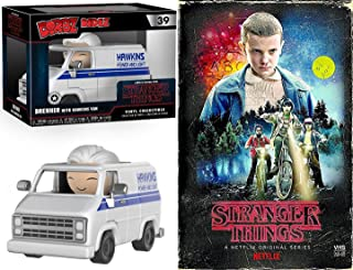Hawkins Stranger Things Power & Light Exclusive VHS Set Season 1 Blu-Ray 4 Disc Box Series with Van Figure Collectible Special Edition 2-Pack Combo Bundle