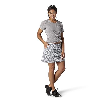 Smartwool Merino Sport Lined Skirt (Barely Blue Zigzag Print) Women