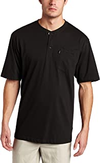 Key Industries Men's Big and Tall Heavyweight 3-button Short Sleeve Henley Pocket T Shirt