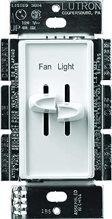 Lutron S2-LFSQ-WH FAN CONTROLLER, White