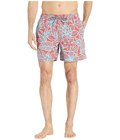 Reyn Spooner South Pacific Garden Swim Trunks (Tomato Puree) Men