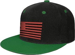SUNIE Cincinnati-Cool-Bearcats-Flag Red Baseball Caps Flat Brim Stylish Tennis Hats