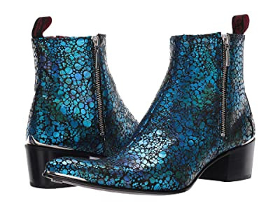 Jeffery-West Sylvian Double Zip Boot (Blue/Black) Men