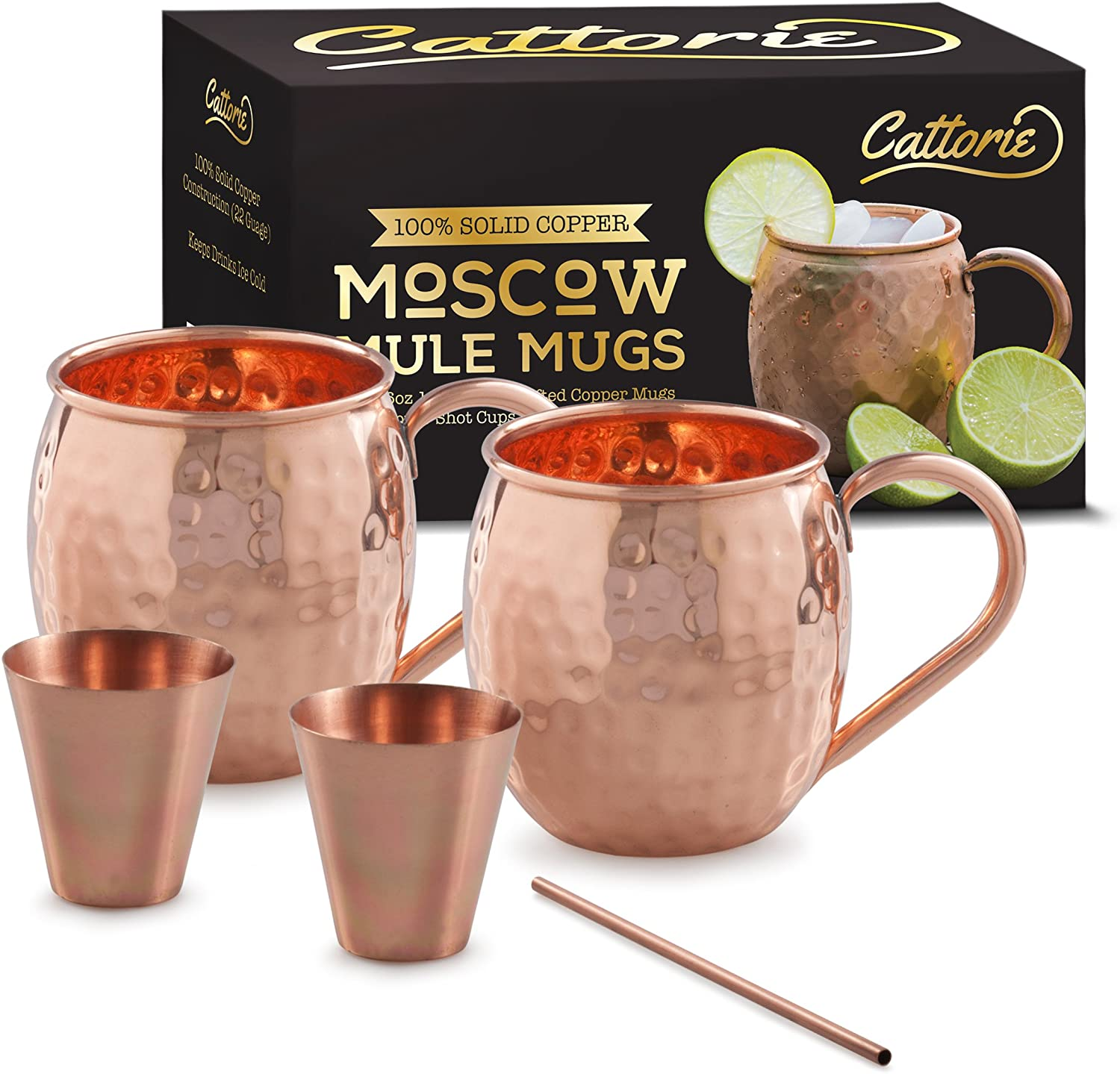 100% Solid Moscow Super intense SALE Mule Copper Mugs of Set With Kit Bargain Free Extras: