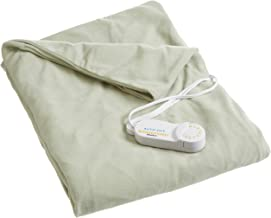 Biddeford Blankets Comfort Knit Electric Heated Blanket With Digital Controller, Throw, Sage