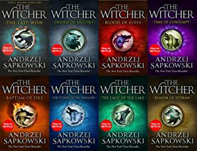 Andrzej Sapkowski Witcher Series 8 Books Collection Set (The Last Wish,Sword of Destiny,Blood of Elves,Time of Contempt,Ba...