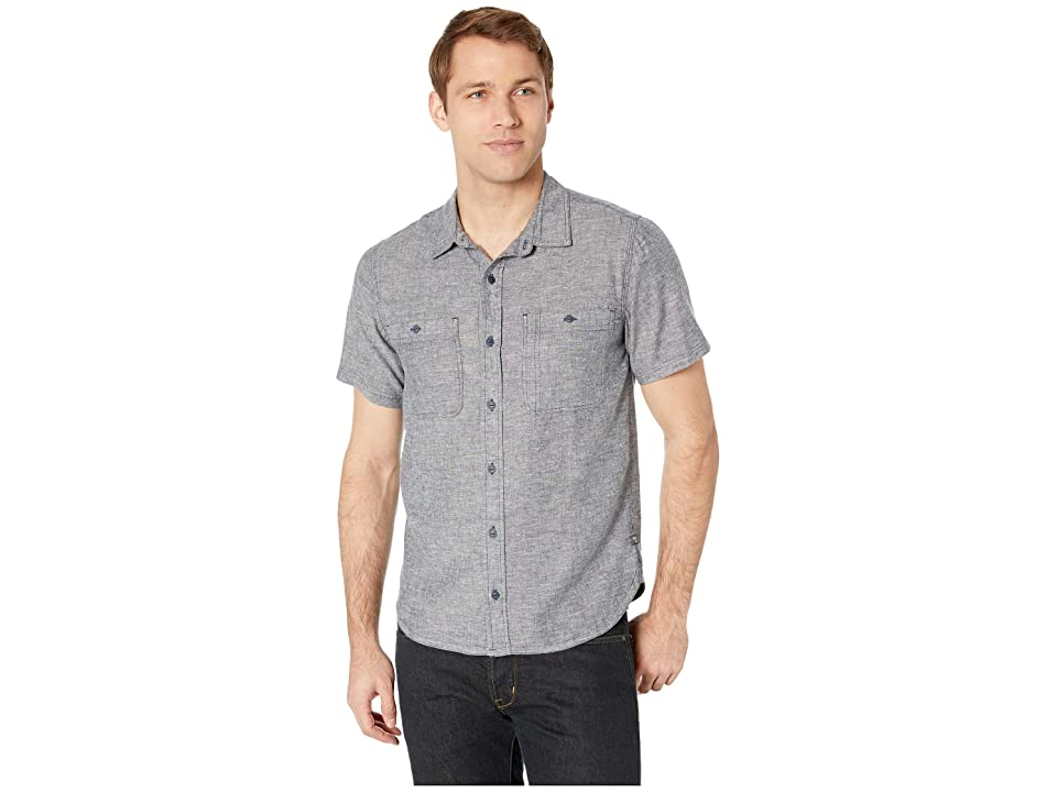 Toad&Co Taj Hemp Short Sleeve Shirt Slim (Blue Chambray) Men