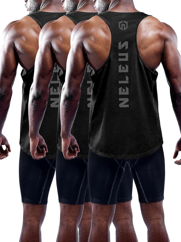 Neleus Over item handling Men's 3 Sale Pack Dry Muscle Top Y-Back Tank Fit